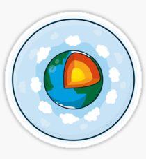 Earth Cake Sticker
