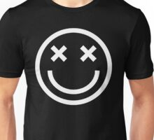 Faded Smiley - White Unisex T-Shirt