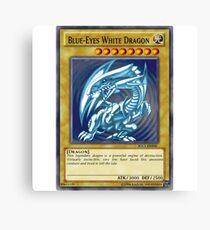 Blue Eyes White Dragon Canvas Print