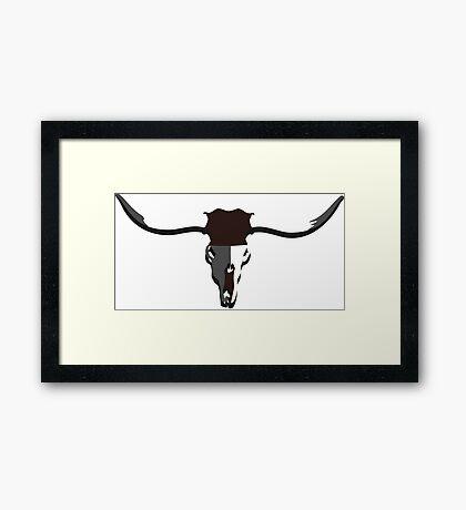 Longhorn Skull VRS2 Framed Print