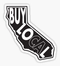 Buy local California black print Sticker