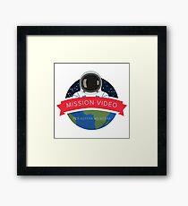 NASA Mission Video Space Camp Design Framed Print