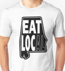 eat local Alabama black print Unisex T-Shirt