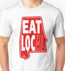 eat local red print Unisex T-Shirt