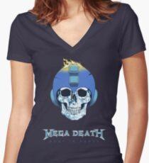 Mega Death Women's Fitted V-Neck T-Shirt