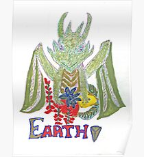 """Earth Dragon"" Poster"