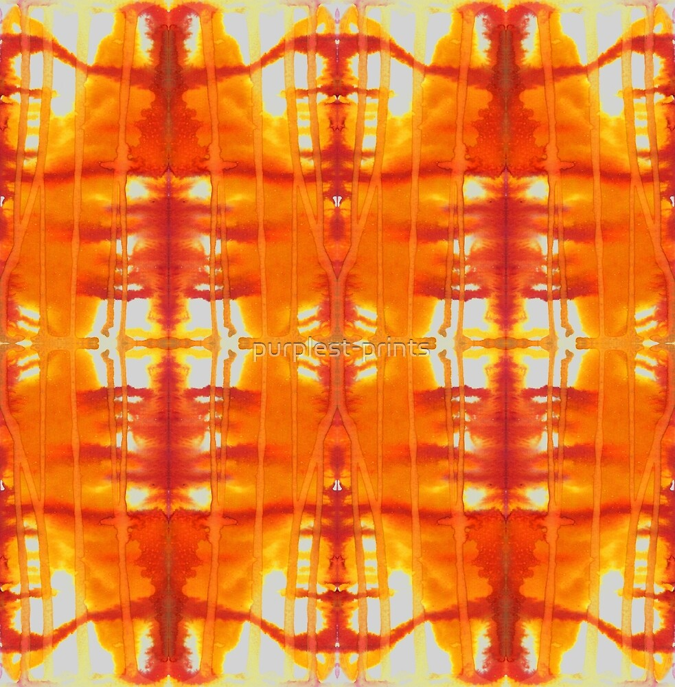 orange & gold watercolor drips by purplest-prints