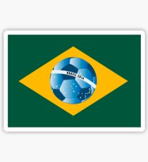 Brazil flag with ball Sticker