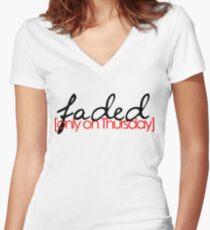 Faded on Thursday Women's Fitted V-Neck T-Shirt