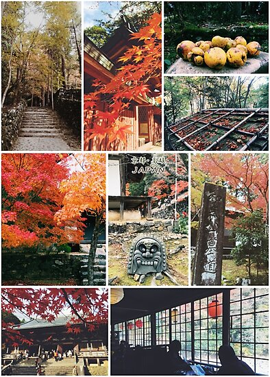 Kyoto Japan Takao Jingo-ji & Kozan-ji Autumn Collage by Beverly Claire Kaiya