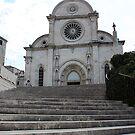 Stairs to the church by Elena Skvortsova