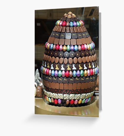 Giant chocolate egg Greeting Card
