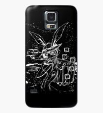 Down The Rabbit Loch (weiß) Hülle & Klebefolie für Samsung Galaxy