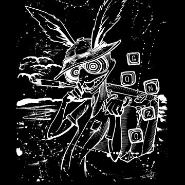 Down The Rabbit Hole (white) by Sladeside