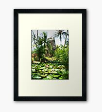 Sugar Mill & Lilies Barbados Framed Print