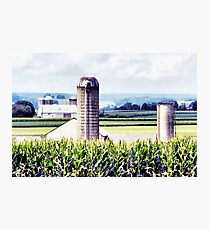 Amish Grain Silos  Photographic Print