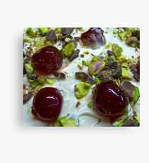 Pistachio & Cherry Cheesecake Canvas Print