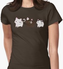 Kitty Trio Womens Fitted T-Shirt