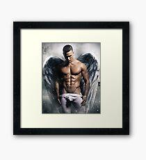 Athelticus II White Angel. Framed Print