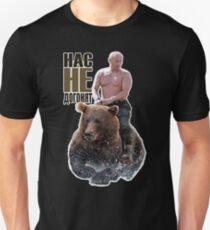 PUTIN reitet auf einem Bären Slim Fit T-Shirt