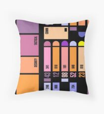 Star Trek Computer Panel Throw Pillow