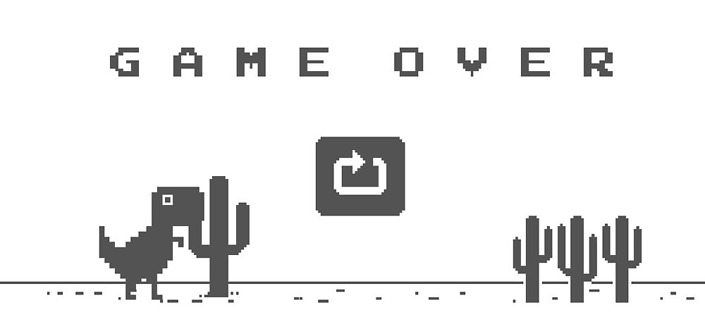 Chrome Dino Game Over by criangulien