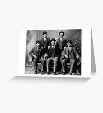 WILD BUNCH GANG of the OLD WEST c. 1900 Greeting Card