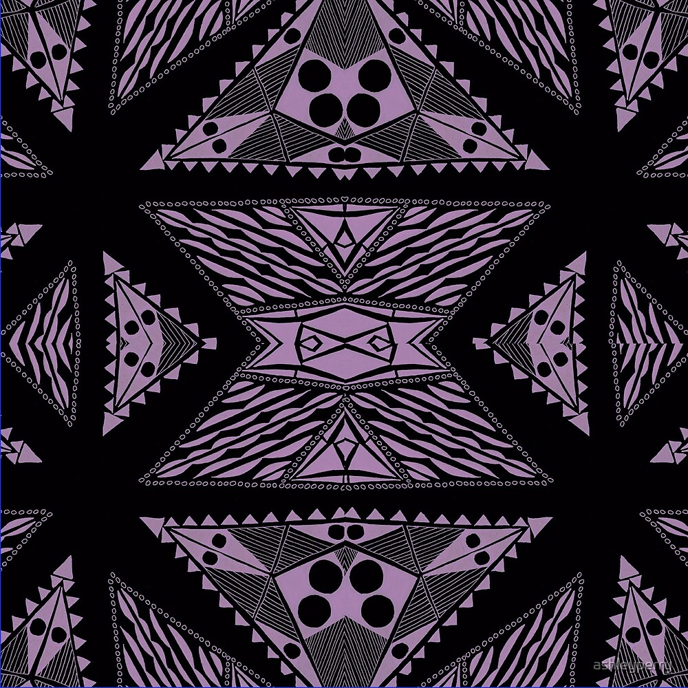 Tribal Lace in Purple by ashleyperry