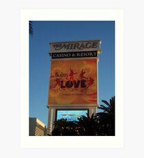 The Mirage Casino in Las Vegas Art Print
