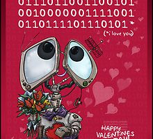 Robot Valentine by embiearts