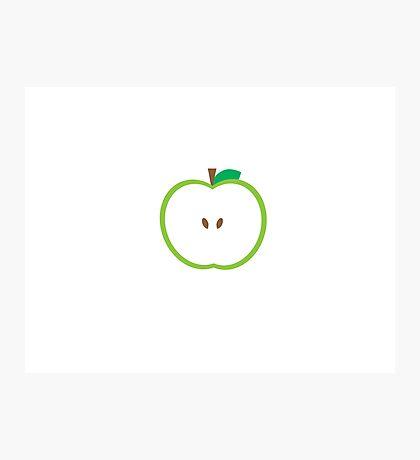 Green Apple Slice Photographic Print