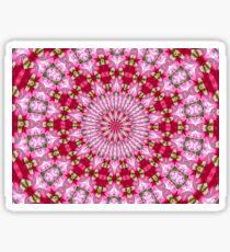 Pink and red rose petals mandala 2 Sticker