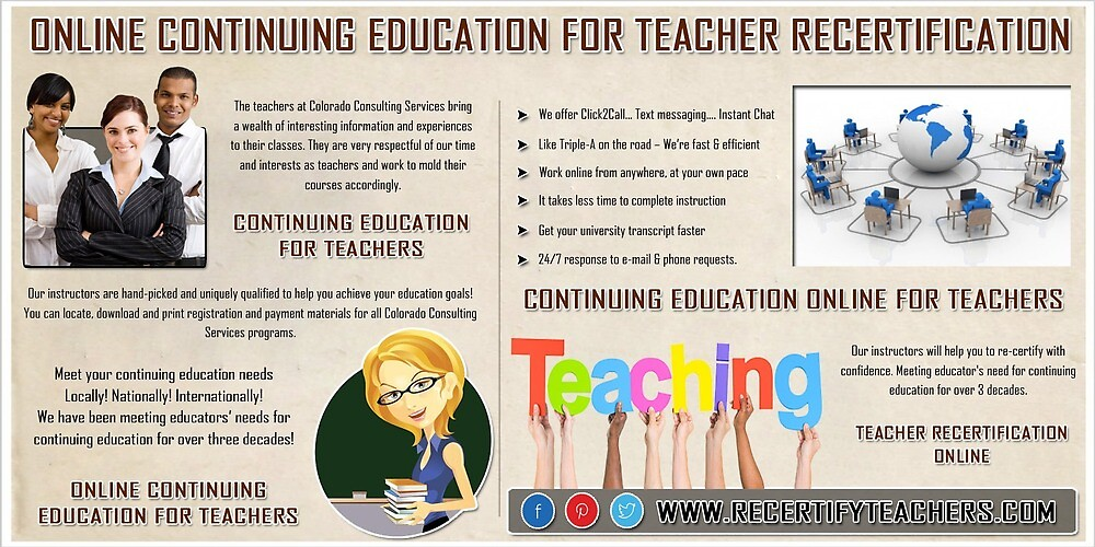 Online Continuing Education For Teachers by OnlineEducation