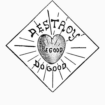 Destroy Be Good Do Good Black on White- Altered Children's Bible Art by juliethebruce
