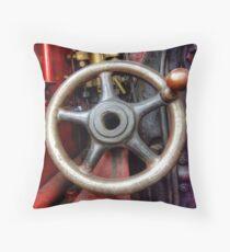 Steam Train Drivers Wheel Throw Pillow