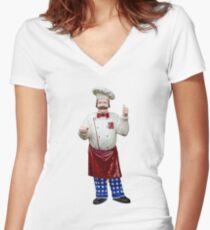 Plastic chef Women's Fitted V-Neck T-Shirt