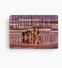Morning Ride Saltburn Canvas Print