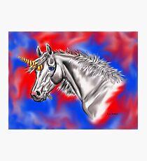 Digital Unicorn  Photographic Print