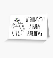 Wishing You A Happy Purrthday Greeting Card
