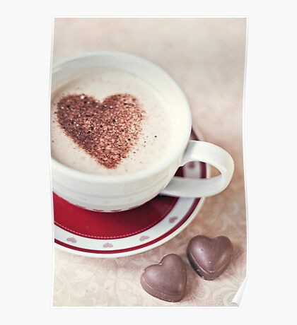cappuccino and chocs Poster