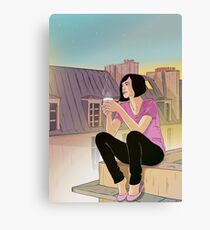 Woman Roof Canvas Print