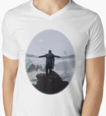 Sherlock above the Sea of Fog Men's V-Neck T-Shirt