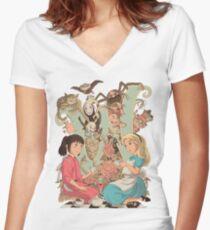 Wonderlands Women's Fitted V-Neck T-Shirt