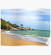 Ocean Beach near Hua Hin in Thailand. Poster