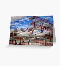 Retired Military Fighter Jet Greeting Card