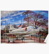 Retired Military Fighter Jet Poster