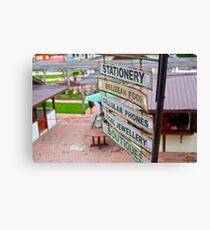 Belize market Canvas Print