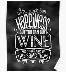 Wine Lover's Poster - Chalkboard Style Poster