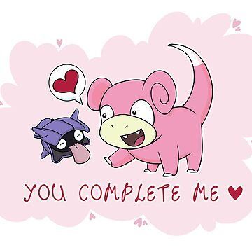 Valentines - Slowpoke and Shellder  by fizzeebee