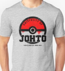 Pokemon - University of Johto (Grunge) T-Shirt
